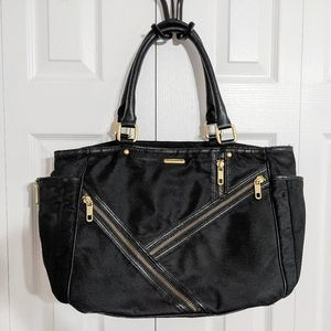 Rebecca Minkoff Zipper Detail Diaper Bag With Bird Interior